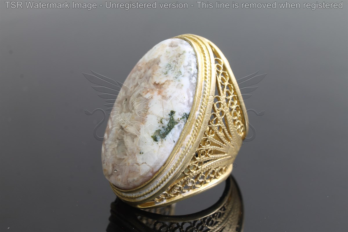 Brass tapestry ring code 0048