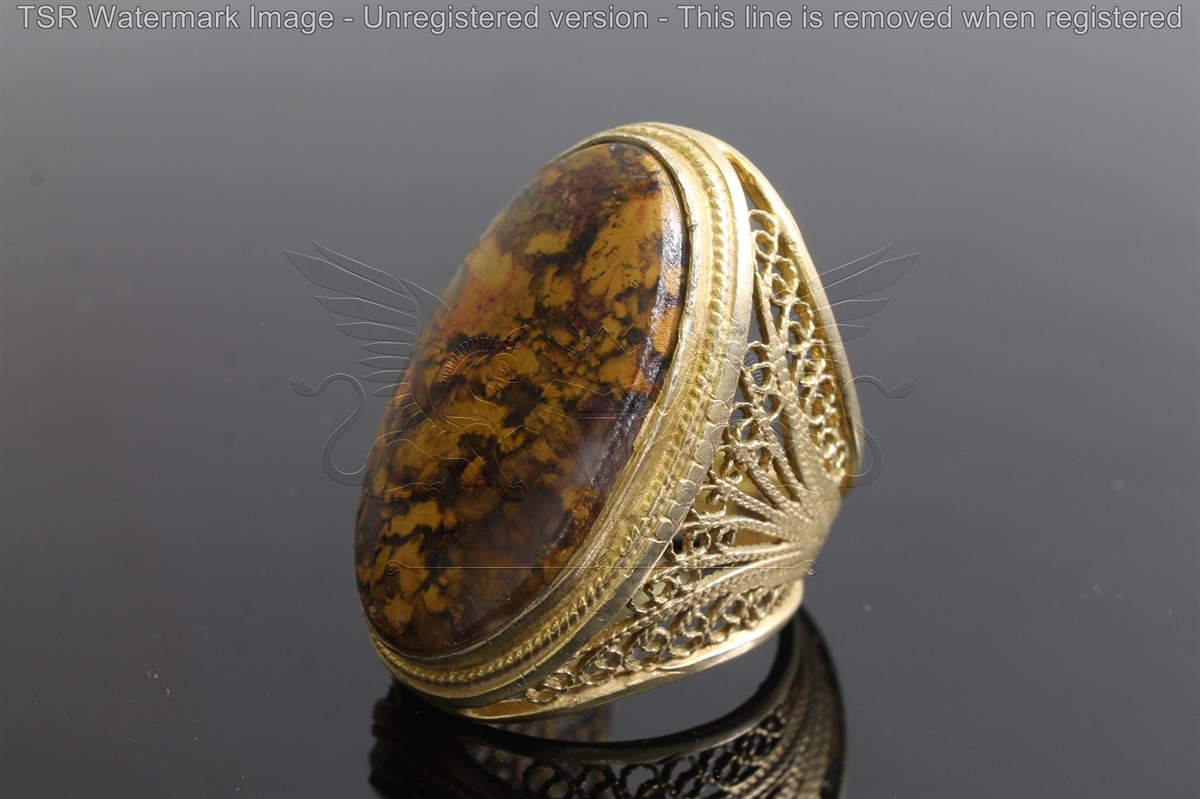 Brass tapestry ring code 0039