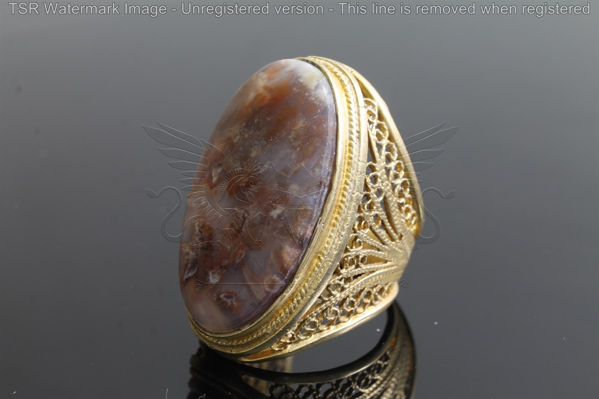 Brass tapestry ring code 0049