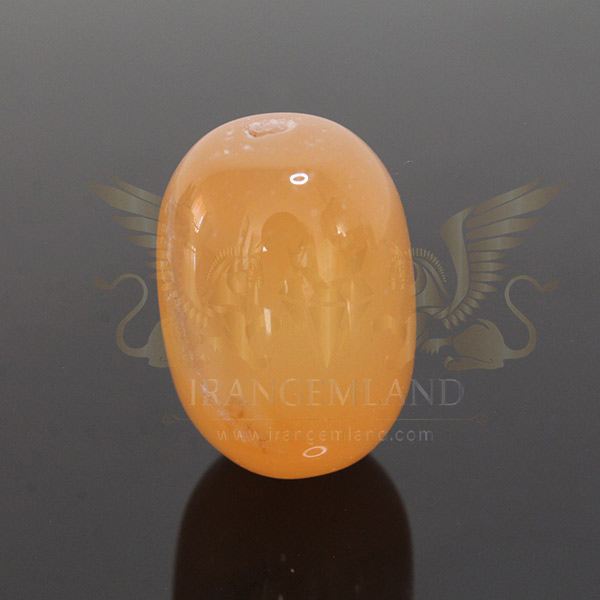 Cylindrical bead of agate 0025