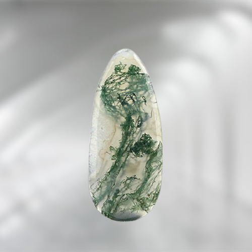 Natural Moss Agate Code 8