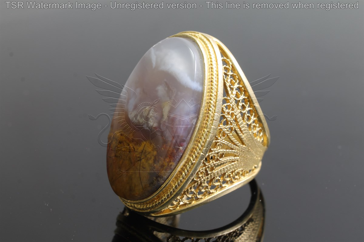 Brass tapestry ring code 0041