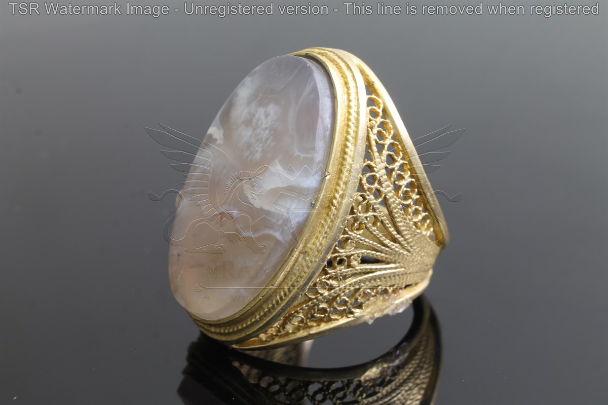 Brass tapestry ring code 0046