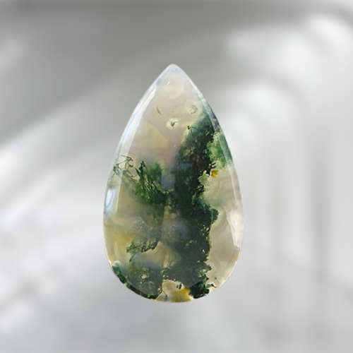 Natural Moss Agate Code  18