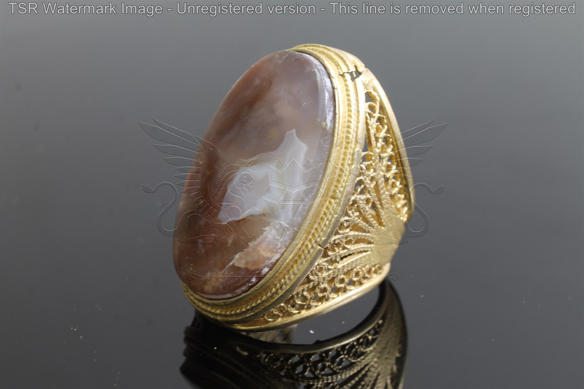 Brass tapestry ring code 0043