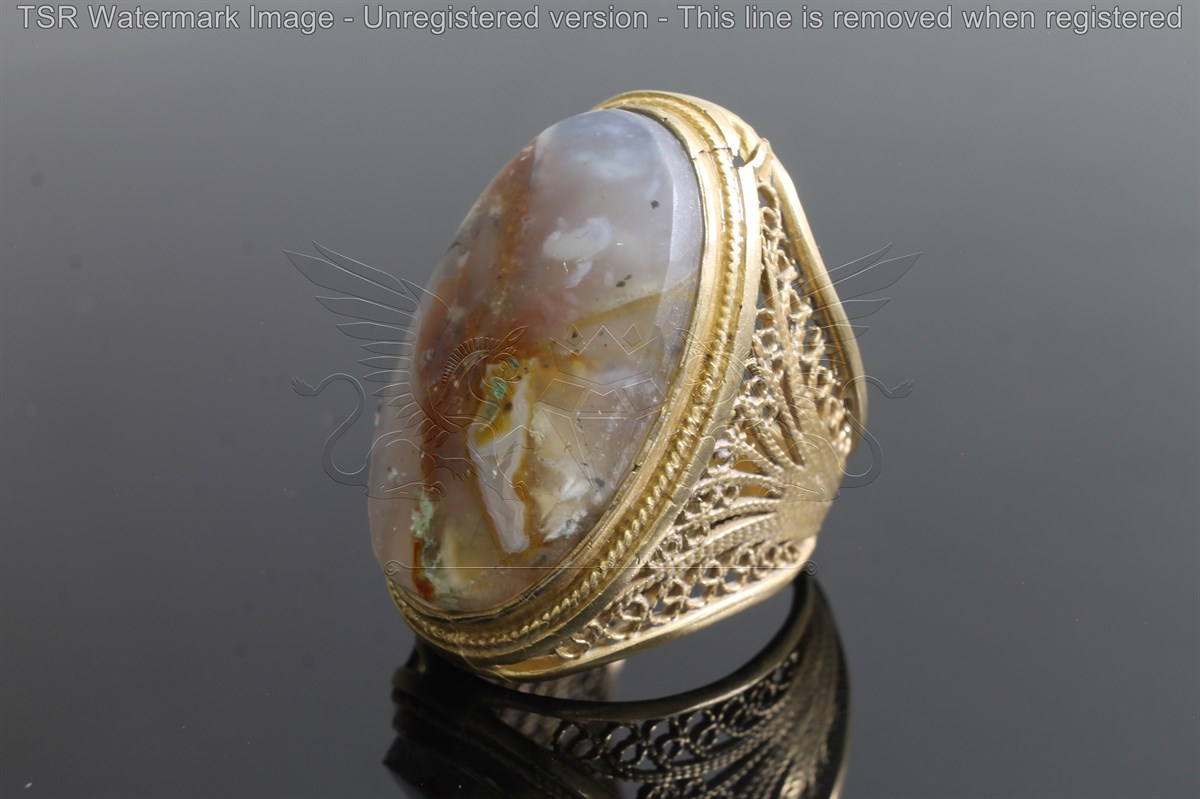 Brass tapestry ring code 0045