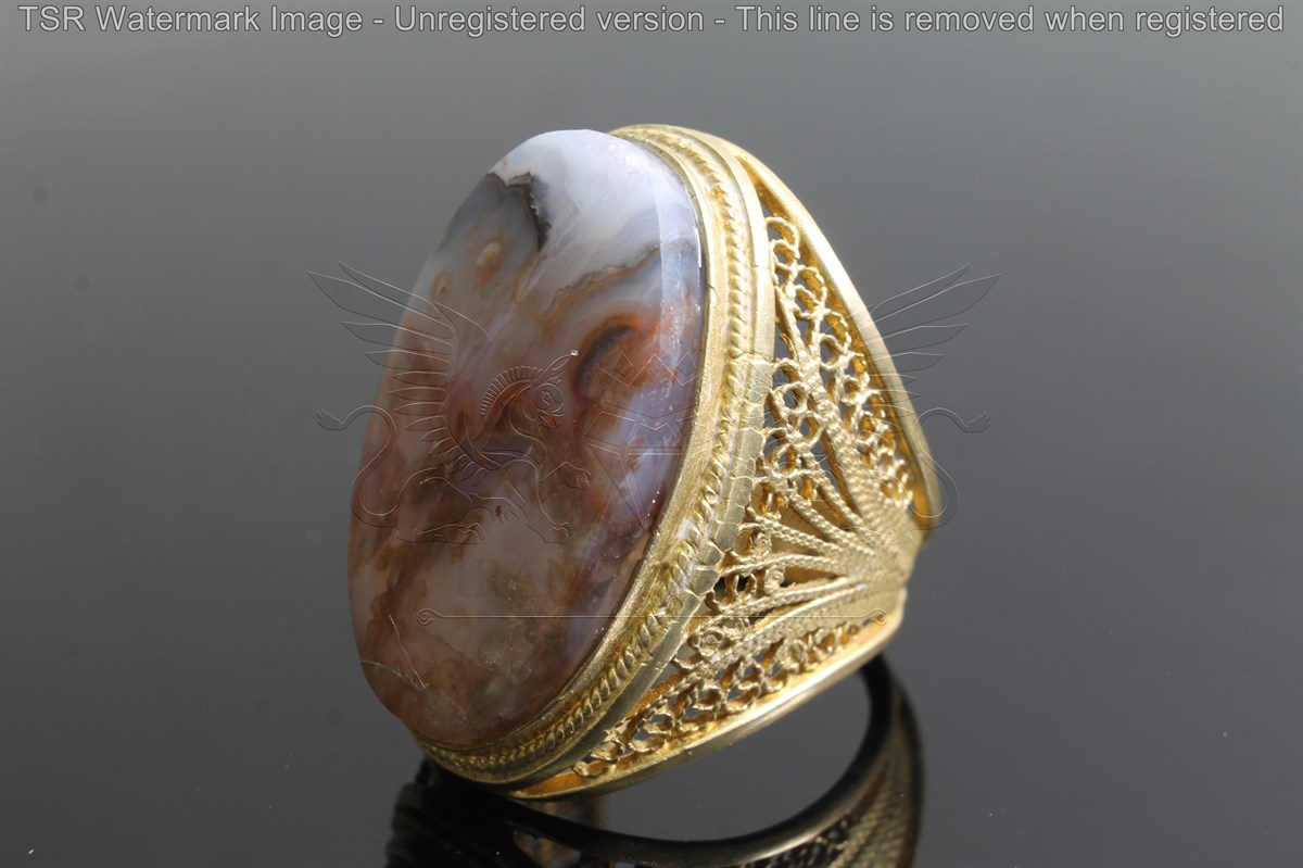 Brass tapestry ring code 0047