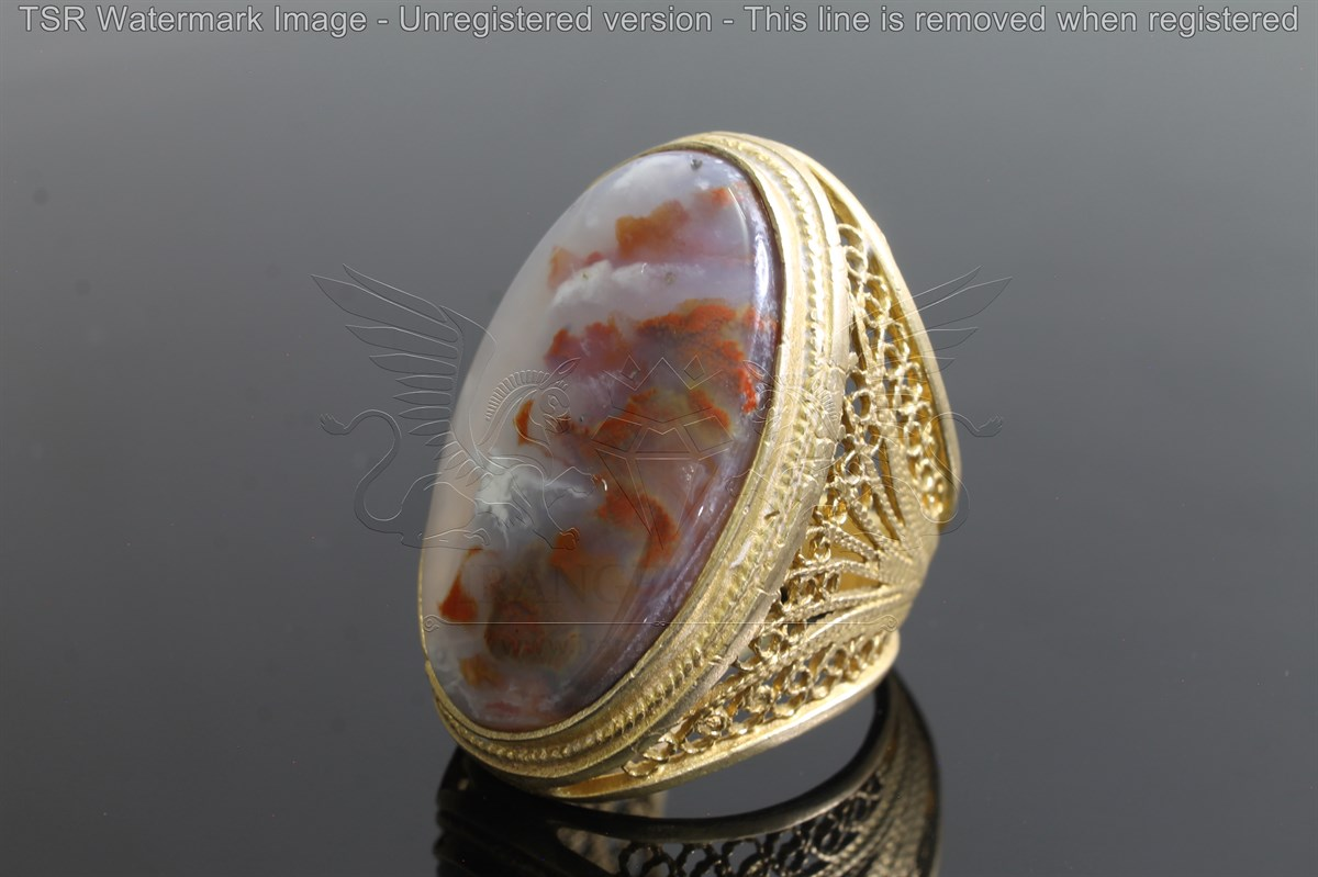 Brass tapestry ring code 0044