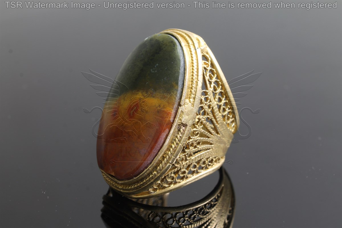 Brass tapestry ring code 0040
